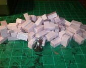 Large Miniature Foam Bricks (pack of 80) Miniature Wargaming and Frostgrave Crafting (doll House)