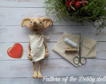"""Pattern of the Dobby doll from """"Harry Potter"""" 9 inches (23 cm) height"""