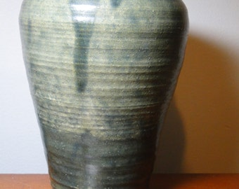 "Lovely Vintage Pottery Vase - 4"" Rim Diameter x 7"" Tall - Unfamiliar Potter's Mark - Lovely Piece!"