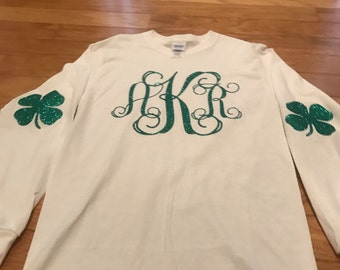 St. Patrick's Day Monogram shirt