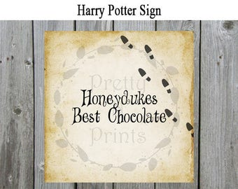 Harry Potter Party Signs - Honeydukes Best Chocolate - Harry Potter Themed -  Instant Download - Print At Home - Harry Potter Party - R0001