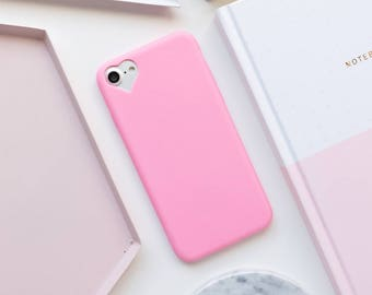 Hot Pink Heart iPhone Case iPhone 8 Case iPhone 8 Plus Case iPhone 7 Case iPhone 7 Plus Case iPhone 6s Case iPhone 6s Plus Case Pink iPhone