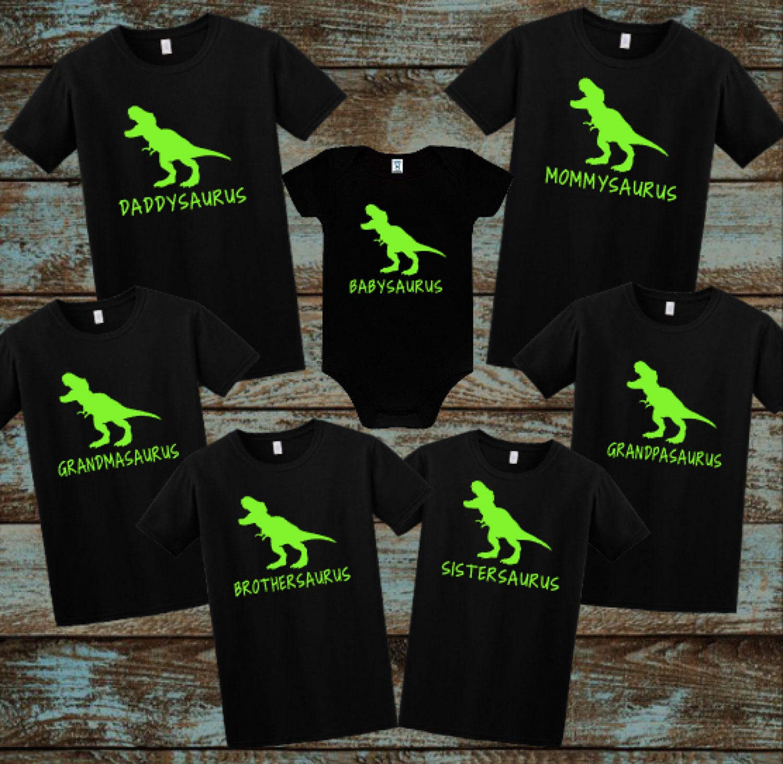 Saurus Shirts Family Dinosaur Shirts Daddysaurus
