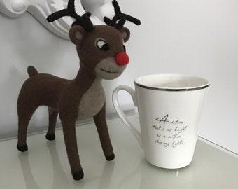 OOAK Needle Felted Rudolph