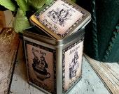 Alice in Wonderland Drink Me. Alice in Wonderland Tea Storage Tin. Alice in Wonderland Tin Box. Storage Tin. Alice Tin. Alice Box.