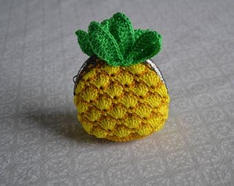 Wallet pineapple / pineapple crochet purse
