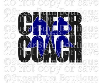 Cheer Coach Knockout Text svg