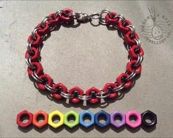 Colourful Hex Nut Bracelet