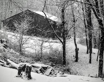 Wintery Barn