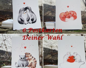 Postcards - set of 6 - together are we - A6