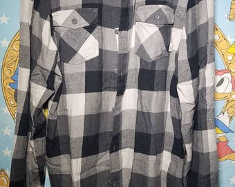 Vans Plaid Black Long Sleeve Shirt XXL
