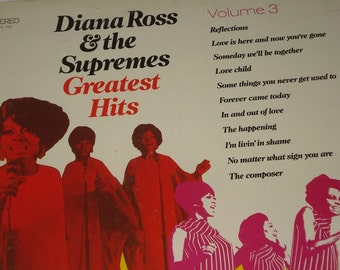 Diana Ross and the Supremes vinyl record album, Supremes Greatest Hits Volume 3 vintage vinyl record