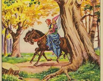 Vintage Children's Book Illustration (1963): The Goose Girl
