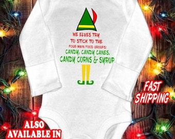 Funny Elf baby one-piece bodysuit shirt - Christmas shirt