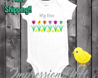 My First Easter Baby one-piece bodysuit shirt, 1st easter onesie, Easter onesie, funny baby onesie, bab onesie
