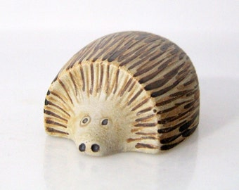 Hedgehog by Sgrafo, West German Pottery, WGP, mid century, figurine
