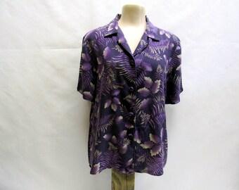 1990s Vintage Purple Hawaiian Shirt