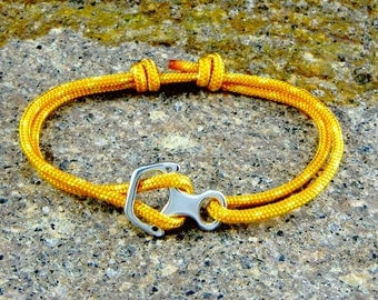 Bracelet Climber Figure 8 - Silver 925 - Rock Climbing - Made in Italy