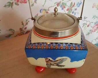 Stunning Art Deco biscuit barrel