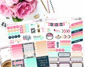 Bright Aztec- Planner Stickers, Weekly Sticker Set, Quote Stickers, Full Boxes,  Functional Stickers, Decorative Stickers, Half box stickers
