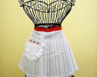 Vintage White Hostess/Honeymoon Apron