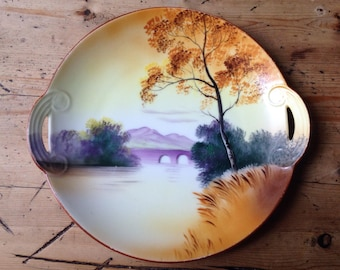 Handpainted Noritake plate made in Japan, vintage china