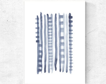 Blue Grey Wall Art Etsy