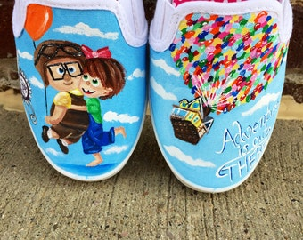 Disneys Up painted shoes