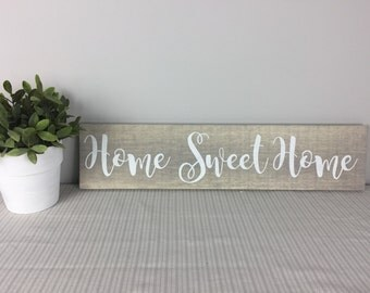 Home Sweet Home Wood Sign | Home Sweet Home | Housewarming Gift | Home Decor