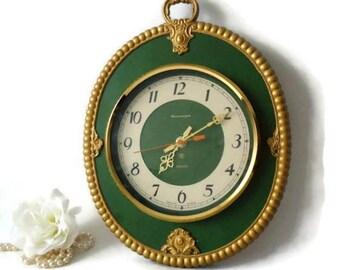 Wooden Wall Clock,Vintage USSR