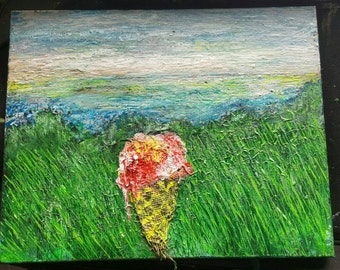 Beautiful Spring Delight Original hand painted acrylic painting 16 x 12