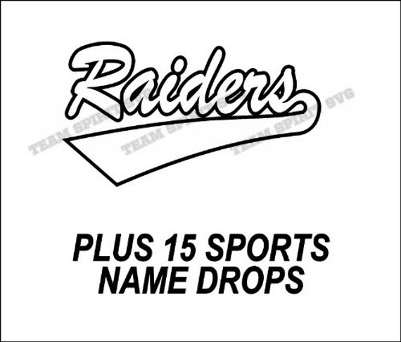 Raiders Swoosh Download Files Svg Dxf Eps Silhouette