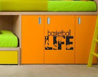 Basketball Life wall decor FREE US shipping hobby Decals Boys Girl Kids Room Player Sport Vinyl Sticker Home Interior Art Bedroom Decor