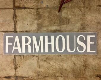 Gray Farmhouse Sign