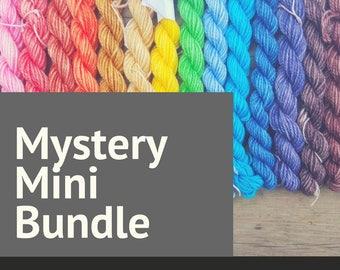Mystery Mini Skein Sock Yarn | Random Hand Dyed Yarn Mini Skein Set | 5 x 100 yard superwash minis | Knitting Yarn | Made in Canada