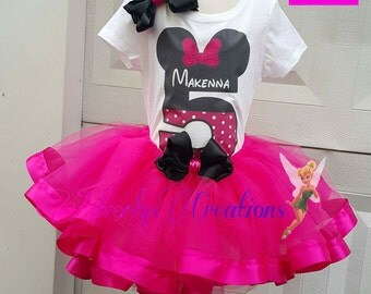 Minnie Mouse Tutu Exclusive Red Crochet Newborn Infant Baby