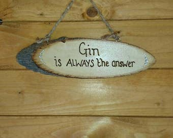 Hand Decorated Wooden Plaque