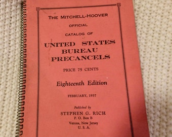 Mitchell-Hoover Official Catalog of US Bureau Precancels 10th Ed 1932 Philately