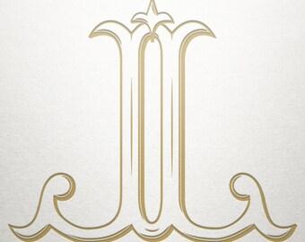 Baroque Monogram Design - JJ - Baroque Monogram - Digital