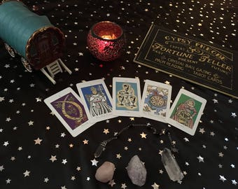 5 card tarot & 5 question pendulum reading-Gypsy-PDF