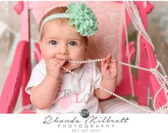 Baby Girl Headband, Mint Headband, Mint Baby Headband, Newborn Headband, Infant Headband, Baby Headband, Headbands, Toddler Headband, Baby