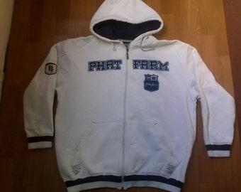 PHAT FARM hoodie, sweat shirt of vintage 90s hip-hop clothing, 1990s hip hop shirt, OG, gangsta rap, size L Large