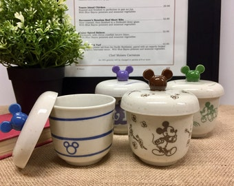 Disney Mickey Mouse Japanese Teacup Set with Lids (2)