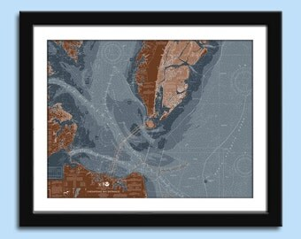 Chesapeake Bay - Chesapeake Bay Harbor - Nautical Chart Decor