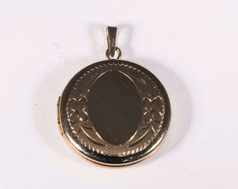 14k Yellow Gold Round Locket
