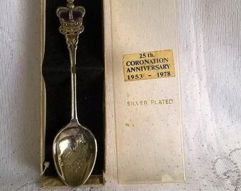 Vintage Queen Elizabeths  Coronation 1978 Souvenier Spoon