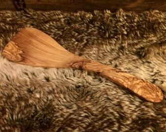 Handmade olive wood spatula pancake flipper, turner, kitchen utensils