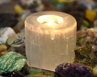 Selenite Dream Candle Holder