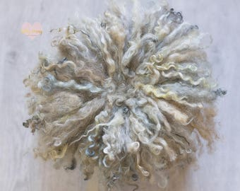 KHAKI, curly, felted rugs, photo prop wool carpet
