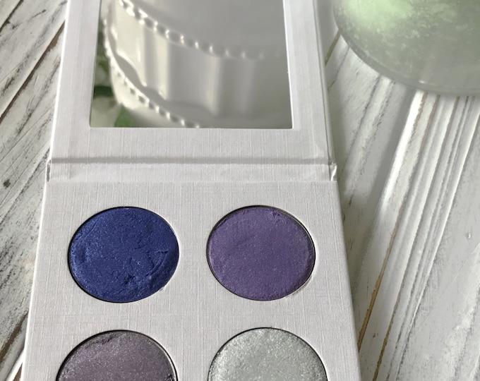 Vegan Eyeshadow-Winter Eyeshadow-Pressed Eye Shadow-Eyeshadow-Quad #6 Eyeshadow Palette-Organic Eyeshadow Palette, Vegan Eyeshadow Palette